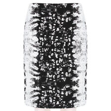Reed Krakoff Luxueux Noir Blanc téjus Jacquard Jupe crayon US6 UK10