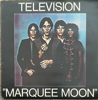 TELEVISION ~ Marquee Moon ~ Original 1977 UK FIRST PRESS Elektra 8-trk vinyl LP