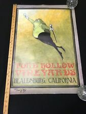 Rare Toad Hollow vineyards Signed And Numbered Poster