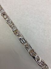 Diamond 14 Karat White Gold Bracelet 1.50 Ct Floating Diamond 37.1 Games.