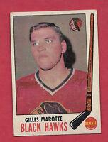 1969-70 TOPPS # 68 CHICAGO HAWKS GILLES MAROTTE  CARD