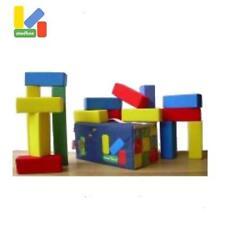 Bausteine aus Schaumstoff 15 Bauklötze von Molbos Basic Set Kindergarten Hort