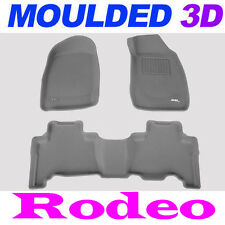 To suit Holden Rodeo Dual Cab 2002 - 2008  3D GREY Rubber Car Mats