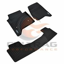 2015-2020 Tahoe Genuine Gm Front & 2nd Row Premium All Weather Floor Mats Black (Fits: Chevrolet)