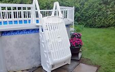 "VinylWorks GE-W 30"" Above Ground Swimming Pool Step & Ladder Entry System-White"