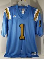 Adidas UCLA Bruins Football Jersey #1 Mens Medium Blue / Gold/ White V-Neck Med