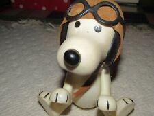 Vintage Peanuts Snoopy Wearing Blue helmet /& Goggles Ceramic Ornament UFS