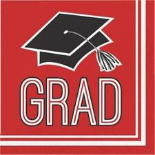 Graduation School Spirit Red Lunch Napkins 36 per Pack