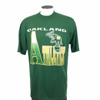 Oakland Athletics VTG 90s T Shirt XL Green 1991 USA MLB Baseball Mens 9242