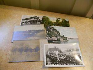 Six Vintage Postcards St. Paul Minnesota Winter Carnival  State Fair  Lake Phala