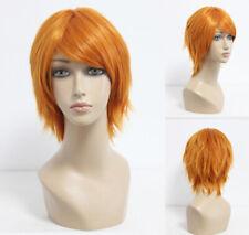 Ladieshair Perücke Wig Rot / Orange ca. 35cm ONEPIECE Nami Cosplay Karneval F7T