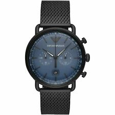 Emporio Armani AR11201 Chronograph Men's Watch Black Stainless Steel