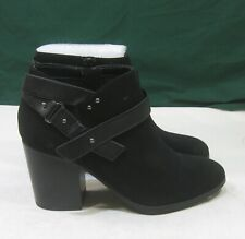 """new Black 3""""Block Heel  round toe  Sexy Ankle Boot   US WOMEN Size 6"""
