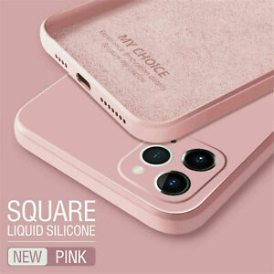 For iPhone 13 12 11 Pro Max XS X XR 87 Plus Liquid Silicone Case Soft Slim Cover