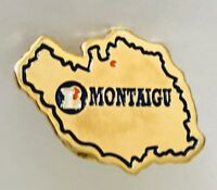 Montaigu France Souvenir Lapel Pin Badge Vintage (C8)