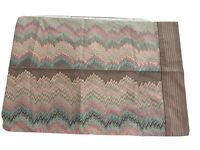 Vintage Martex Brown Pastel Zigzag Standard Pillowcase No Iron Percale Pristine