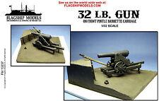 "Flagship Models 32 lb Gun on Front Pintle Carraige (Base 6""x 6"")"