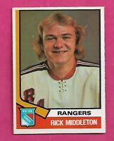 1974-75 OPC # 304 RANGERS RICK MIDDLETON ROOKIE NRMT CARD (INV# D6952)