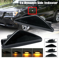 Amber Dynamic LED Side Indicator Repeater Light For BMW X3 X5 X6 F70 F71