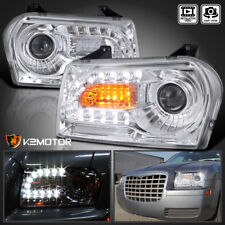 2005-2010 Chrysler 300 Chrome Clear LED DRL Turn Signal Projector Headlights