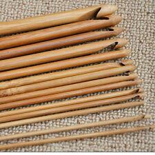 12× verschiedene Häkelnadeln Kopf Größe Stricknadeln aus Bambus Pullover Weben