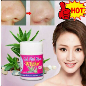 GEL HUT MUN White Aloe Vera Whiteheads Blackhead Pore Mask-New Nose Peel UK HOT