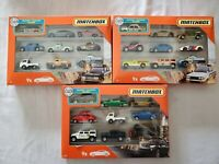 Lot Of 3 Boxes Matchbox 9 Piece Metal Toy Car & Truck Set Datsun Hummer VW Chevy