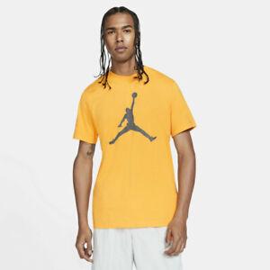 Jordan Jumpman T-Shirt Men's University Gold Iron Grey Sportswear Tee Top