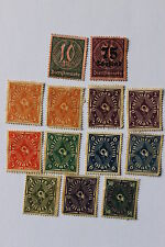 Antique German Weimar Republic stamps Coach Horn 1921-1923
