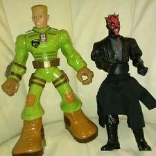"Star Wars 10"" Darth Maul & 12"" GI Joe Drill Sergeant Duke Talking Action Figures"