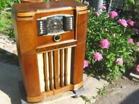1941 Zenith Deluxe 10 Tube Console Radio Restored  Cabinet & Electronics 10S668