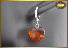 Lovely Natural Baltic Amber Earrings Heart