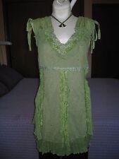 Pretty Angel Women's Green Silk Blend Blouse Size S NWT