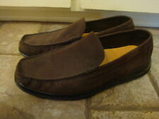 MENS COLE HAAN BROWN SUEDE LEATHER C07762 SLIP ON LOAFERS  U.S. 10.5 M