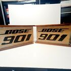 Vintage Distressed Bose 901 Speakers Tested Working Wood Fabric Cabinets