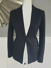 KAREN MILLEN Black Jacket 10 Smart Blazer Wool Mix Single Breasted Business Work