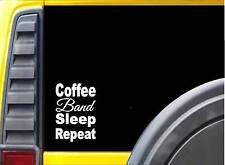 Coffee Sleep Band K842 8 inch Sticker Music instrument decal