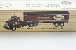Snap-On 1948 Peterbilt 1:43 Scale Diecast Tractor Trailer Bank