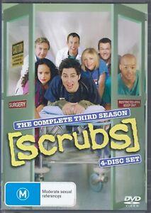 Scrubs DVD - The Complete Third Season 3 - TV Series - FREE POST