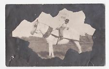 RPPC,Masked Vignette Real Photo,Young Black Boy on a Horse,,Used,1908