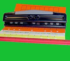 Metal Desktop Adjustable 234567 Hole Organizer Planner Binder Paper Punch