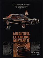 1977 FORD MUSTANG II GHIA Sports Car - Pretty Woman - Enjoys The Trip VINTAGE AD