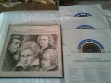 Greatest Hits CHOPIN Beethoven BACH Mozart 4 LP Box Set M NM Columbia S4S-5672