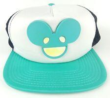 DJ Deadmau5 Teal Logo Face Trucker Flatbill Adjustable Baseball Cap Hat Snapback