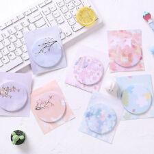 20pcs Flower Pattern Round Memo Pad Kawaii Stationery DIY Message Writing Note