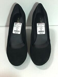 APT.9 Kensington Black - Wedge Heel - Black - Size 6 (SH-500-5)