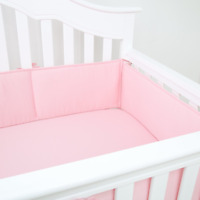 4PCS/Set Baby Crib Bumper Pads Portable Safety Bed Cotton Protector Crib Liners
