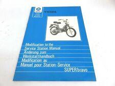 OEM Piaggio Super Bravo Modification to the Service Station Manual