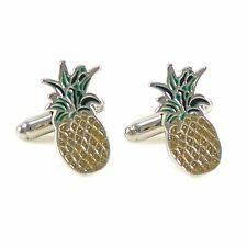 New Novelty Pineapple Cufflink With Gift Box 0802