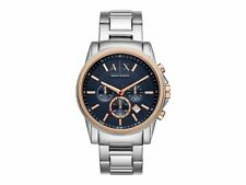 Armani Exchange Mens Chronograph AX2516 Blue Dial Stainless Steel Bracelet Watch